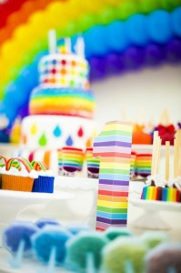 Rainbow Birthday Party via Kara's Party Ideas | Kara'sPartyIdeas.com #Rainbow #Party #Ideas #Birthday #Planning #Supplies (11)