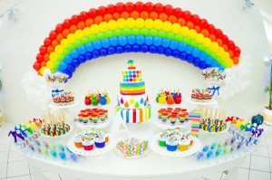 Rainbow Birthday Party via Kara's Party Ideas | Kara'sPartyIdeas.com #Rainbow #Party #Ideas #Birthday #Planning #Supplies (9)