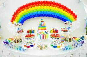Rainbow Birthday Party via Kara's Party Ideas | Kara'sPartyIdeas.com #Rainbow #Party #Ideas #Birthday #Planning #Supplies (9)