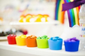 Rainbow Birthday Party via Kara's Party Ideas | Kara'sPartyIdeas.com #Rainbow #Party #Ideas #Birthday #Planning #Supplies (4)