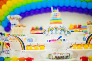 Rainbow Birthday Party via Kara's Party Ideas | Kara'sPartyIdeas.com #Rainbow #Party #Ideas #Birthday #Planning #Supplies (38)