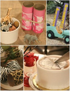 Upcycled Safari Party with AWESOME IDEAS via Kara's Party Ideas | Kara'sPartyIdeas.com #Jungle #Party #Idea #Upcycled #Boy #Girl (1)