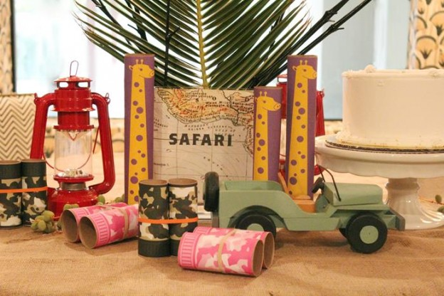 Upcycled Safari Party via Kara's Party Ideas | Kara'sPartyIdeas.com #Jungle #Party #Idea #Upcycled #Boy #Girl (8)