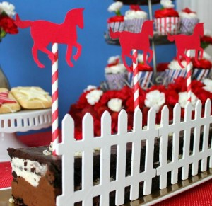 Saratoga Horse Racetrack Party via Kara's Party Ideas | Kara'sPartyIdeas.com #Racetrack #Party #Planning #idea #decorations (29)