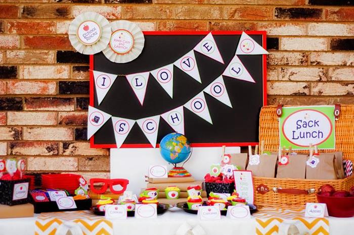 Kara S Party Ideas Back To School Party Planning Ideas