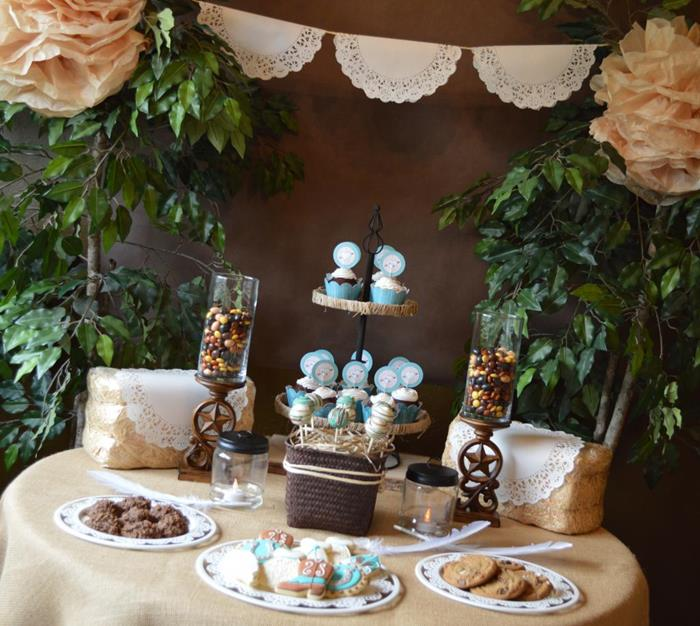 Karas Party Ideas Shabby Chic Western Wedding Bridal Shower Ideas