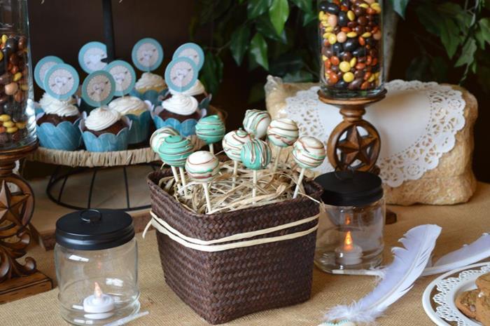 Karas Party Ideas Shabby Chic Western Wedding Shower via Karas