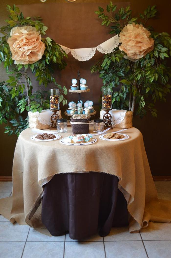 kara 39 s party ideas shabby chic western wedding shower via kara 39 s party ideas kara 39 spartyideas. Black Bedroom Furniture Sets. Home Design Ideas