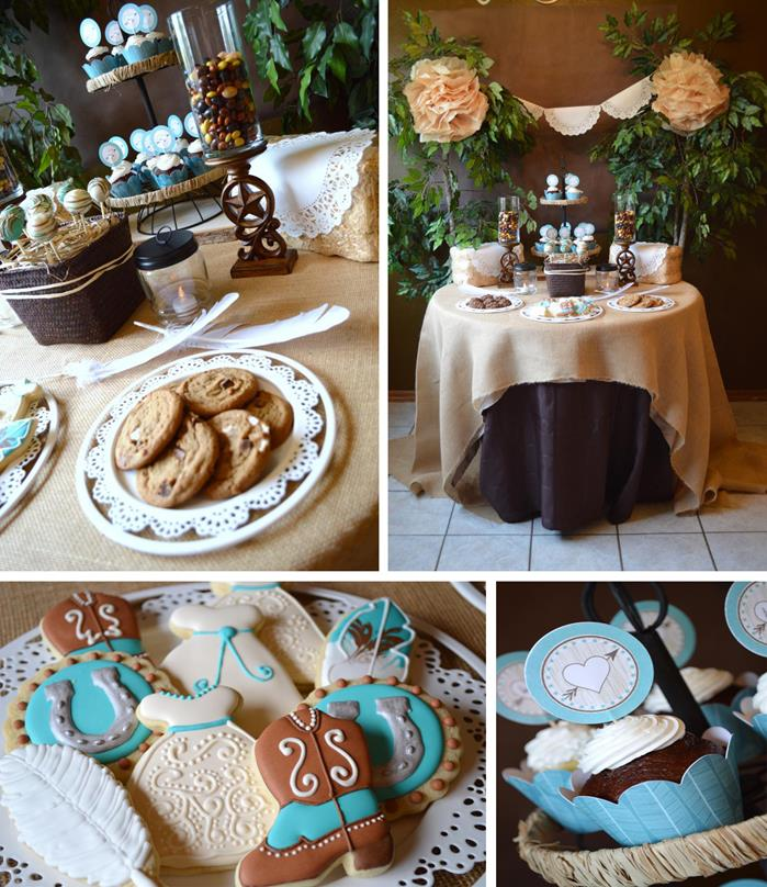 Karas Party Ideas Shabby Chic Western Wedding Shower with SO MANY