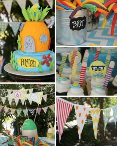 Sponge Bob Birthday Party via Kara's Party Ideas #decorations #idea (1)