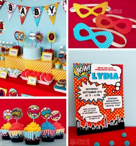 Supergirl / Superboy Baby Shower via Kara's Party Ideas #superhero #supergirl #Party #idea #supplies