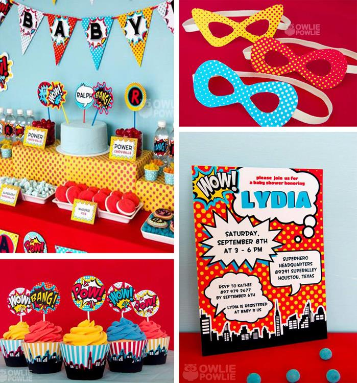 Kara\'s Party Ideas Supergirl / Superboy Baby Shower with LOTS of ...