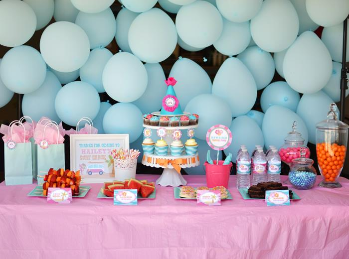 Karas Party Ideas Surfer Girl Birthday Party via Karas Party