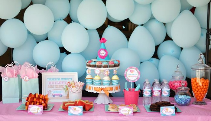 Karas Party Ideas Surfer Girl Birthday Eighth Supplies