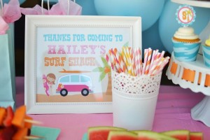#surf #party #birthday #planning #girl #cake #decorations #ideas #idea (17)