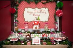 #woodland #birthday #party #decorations #Mushroom #cake #idea #planning (15)