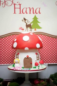 #woodland #birthday #party #decorations #Mushroom #cake #idea #planning (6)