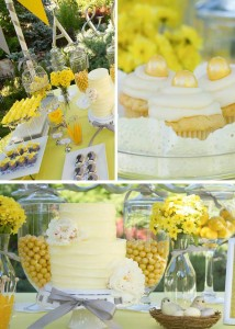 Yellow and Gray Wedding Dessert Table with REALLY CUTE IDEAS via Kara's Party Ideas | Kara'sPartyIdeas.com #Yellow #Gray #Wedding #Reception #Party #Planning #Idea (1)