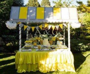Yellow and Gray Wedding Dessert Table via Kara's Party Ideas | Kara'sPartyIdeas.com #Yellow #Gray #Wedding #Reception #Party #Planning #Idea (23)