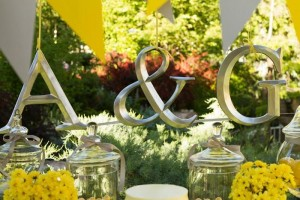 Yellow and Gray Wedding Dessert Table via Kara's Party Ideas | Kara'sPartyIdeas.com #Yellow #Gray #Wedding #Reception #Party #Planning #Idea (19)