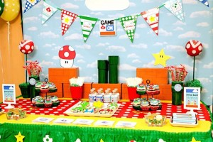Mario Gamer Party via Kara's Party Ideas #Mario #VideoGames #PartyIdea #PartyDecorations (24)