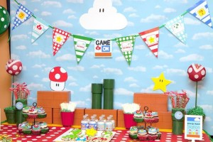 Mario Gamer Party via Kara's Party Ideas #Mario #VideoGames #PartyIdea #PartyDecorations (21)