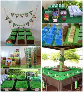 Minecraft Themed Birthday Full of AWESOME IDEAS Party via Kara's Party Ideas Kara'sPartyIdeas.com #Gamer #Gaming #PartyIdeas #Supplies (1)