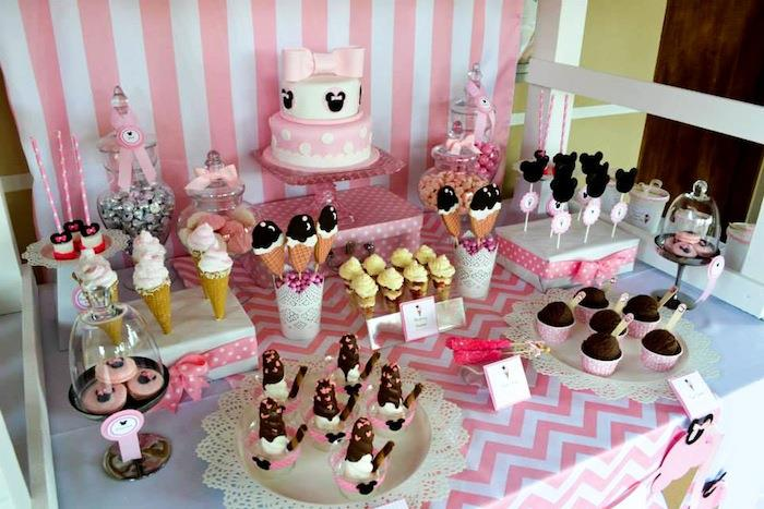 Kara 39 s party ideas minnie mouse ice cream party full of for Baby minnie mouse party decoration ideas