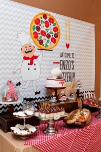 Pizza Themed Birthday Party with REALLY CUTE IDEAS via Kara's Party Ideas Kara'sPartyIdeas.com #PizzaParty #Ideas #Supplies #Baking #Chef (8)