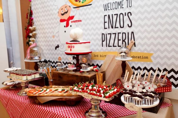 Pizza Themed Birthday Party with REALLY CUTE IDEAS via Kara's Party Ideas Kara'sPartyIdeas.com #PizzaParty #Ideas #Supplies #Baking #Chef (7)