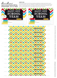 Back to School FREE Printable Teacher's Gift via Kara's Party Ideas | Kara'sPartyIdeas.com #BackToSchool #Ideas #Supplies