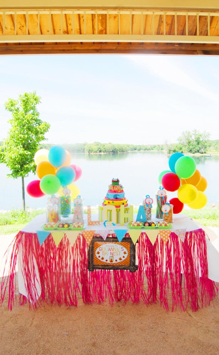Aloha Owl 1st Birthday Party Via Karas Ideas