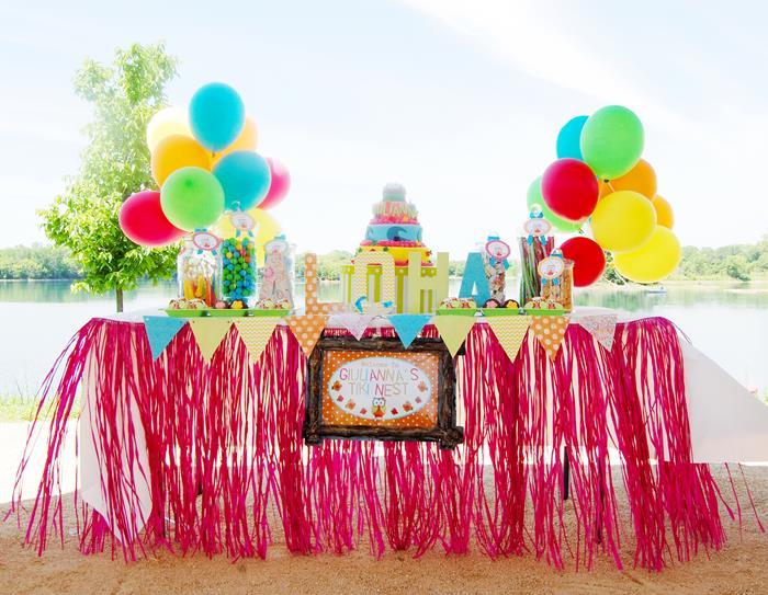 Aloha Owl 1st Birthday Party Via Karas Ideas