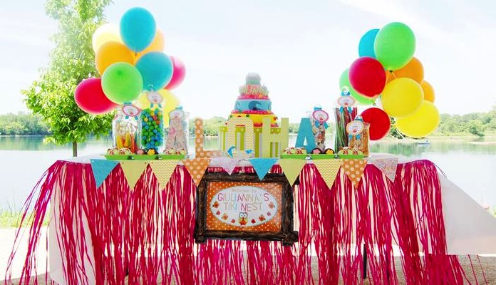 Kara S Party Ideas Aloha Owl First Birthday Party Planning