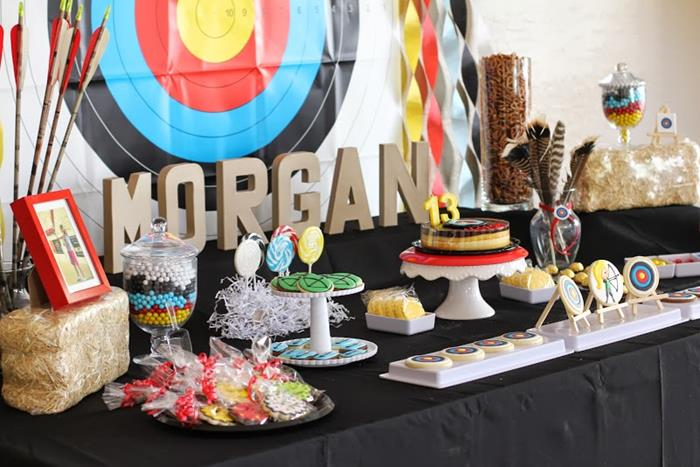 Kara S Party Ideas Archery Themed Birthday Party Via Kara