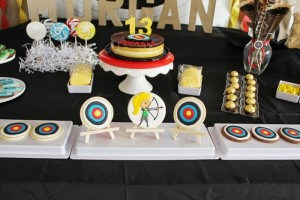Archery Themed Birthday Party via Kara's Party Ideas Kara'sPartyIdeas.com #Tween #BowAndArrow #PartyIdeas #Supplies (15)