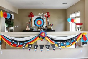 Archery Themed Birthday Party via Kara's Party Ideas Kara'sPartyIdeas.com #Tween #BowAndArrow #PartyIdeas #Supplies (14)