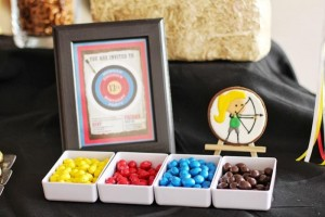 Archery Themed Birthday Party via Kara's Party Ideas Kara'sPartyIdeas.com #Tween #BowAndArrow #PartyIdeas #Supplies (11)