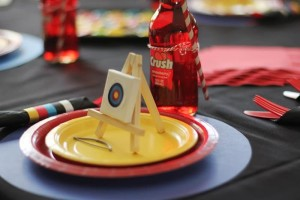 Archery Themed Birthday Party via Kara's Party Ideas Kara'sPartyIdeas.com #Tween #BowAndArrow #PartyIdeas #Supplies (7)