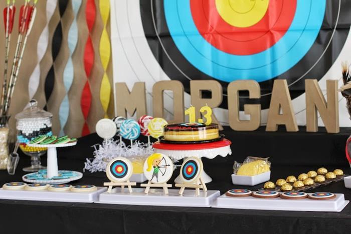 Kara S Party Ideas Archery Themed Birthday Party Via Kara