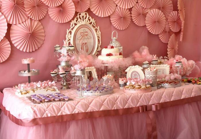 Karas Party Ideas Pink Ballerina Birthday Party via Karas Party