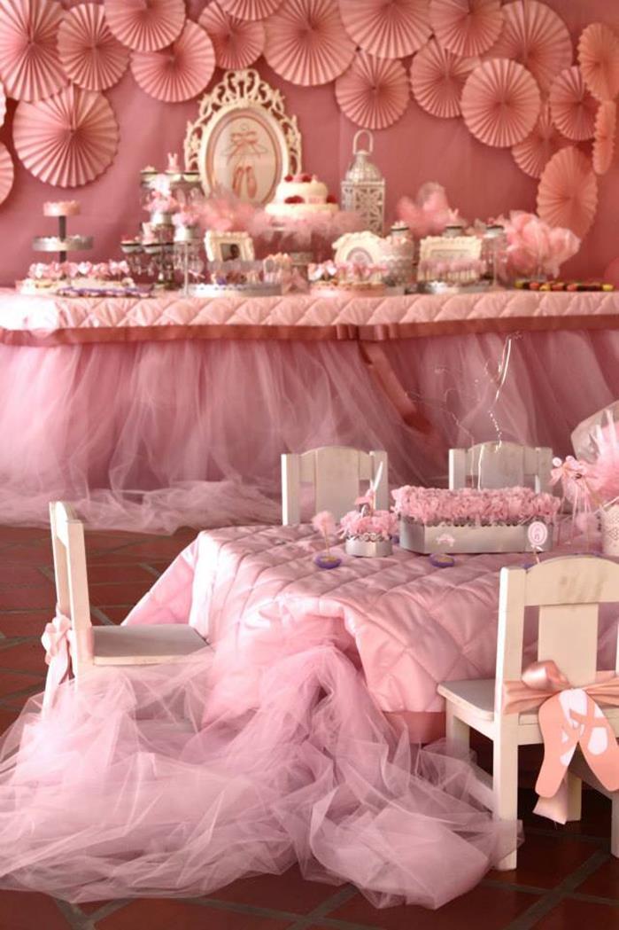 Kara 39 s party ideas pink ballerina birthday party via kara for Ballerina party decoration