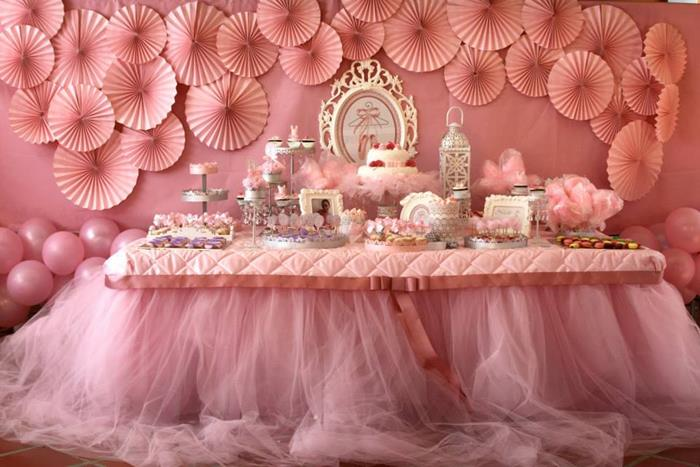 Kara 39 s party ideas pink ballerina birthday party via kara for Ballerina decoration