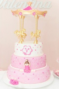 Ballet Themed 1st Birthday Party via Kara's Party Ideas Kara'sPartyIdeas.com #Ballerina #PartyIdeas #Pink #Supplies #BalletCake (29)