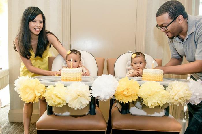 Karas Party Ideas Honeybee Twin 1st Birthday Party via Karas