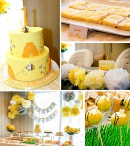 Honeybee Twin 1st Birthday Party FULL of REALLY CUTE IDEAS via Kara's Party Ideas Kara'sPartyIdeas.com #TwinsBirthdayParty #Bee #Honeybee #Ideas #Supplies #GenderNeutral (1)