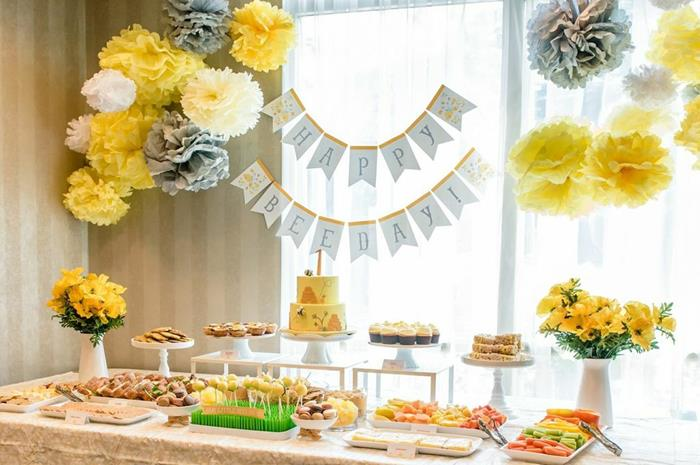 Honeybee Twin 1st Birthday Party Via Karas Ideas KarasPartyIdeas TwinsBirthdayParty