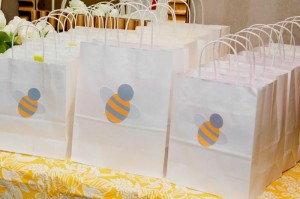Honeybee Twin 1st Birthday Party via Kara's Party Ideas Kara'sPartyIdeas.com #TwinsBirthdayParty #Bee #Honeybee #Ideas #Supplies #GenderNeutral (25)