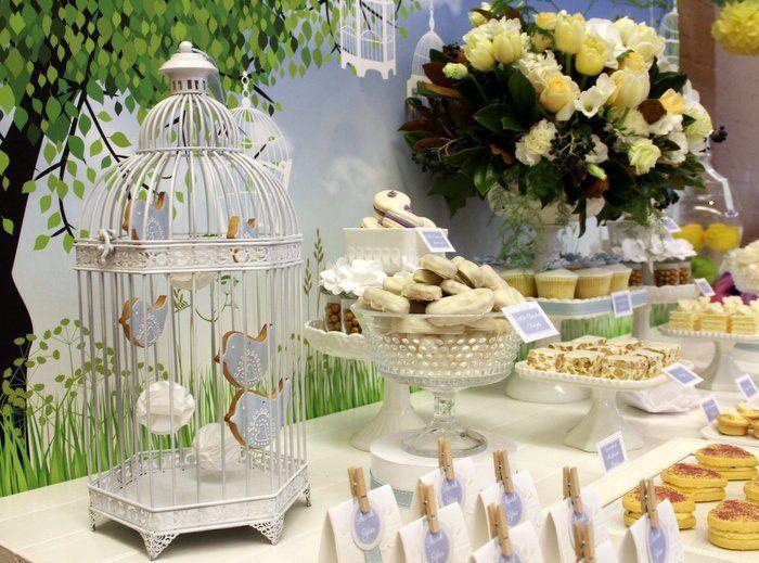kara's party ideas little birdie garden party via kara's party, Baby shower invitation