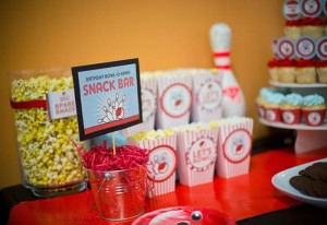 Bowling Themed Birthday Party via Kara's Party Ideas Kara'sPartyIdeas.com #BowlingBall #Strike #Spare #Tween #PartyIdeas #Supplies (5)